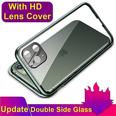 Недорогие Кейсы для iPhone-магнитный адсорбционный металлический корпус из закаленного стекла для iphone 11 / 11pro coque 360 защитные чехлы для iphone 11 pro max