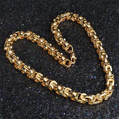 Недорогие Ожерелья-Муж. Жен. Ожерелья-цепочки Классический Цветы Мода Позолота Золотой 50 cm Ожерелье Бижутерия Назначение