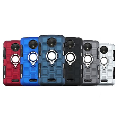 Недорогие Чехлы и кейсы для Motorola-Кейс для Назначение Motorola Мото G7 / Moto E5 / MOTO P30 Note Защита от удара / со стендом Чехол Плитка ТПУ
