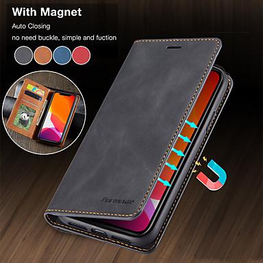 Недорогие Кейсы для iPhone-роскошный магнитный кожаный бумажник флип чехол для apple iphone 11 pro max se 2020 xr xs max x 8 плюс 7 плюс 6 плюс крышка подставки для карты