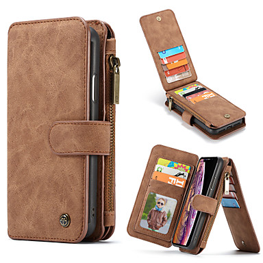 Недорогие Кейсы для iPhone-caseme многофункциональный роскошный деловой кожаный откидной чехол для iphone se2020 / 11 pro max / 11 pro / 11 / xs max / xr / xs / x / 8 plus / 7 plus / 6 plus / 8/7/6 слот для карт-слота съемная
