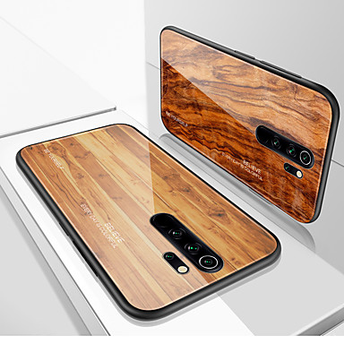 Недорогие Чехлы и кейсы для Xiaomi-роскошный деревянный телефон чехол для xiaomi redmi note 8t note 8 pro k20 pro note 7 redmi 8a мягкий край тпу тонкий закаленный стеклянный чехол для redmi 8 coque shell