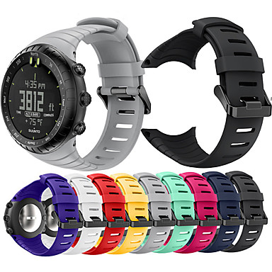Недорогие Аксессуары для смарт-часов-Ремешок для часов для SUUNTO CORE Suunto Спортивный ремешок / Классическая застежка / Современная застежка силиконовый Повязка на запястье