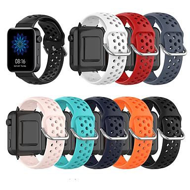 Недорогие Аксессуары для мобильных телефонов-дышащий силиконовый спортивный ремешок для Xiaomi Smart Watch 18 мм