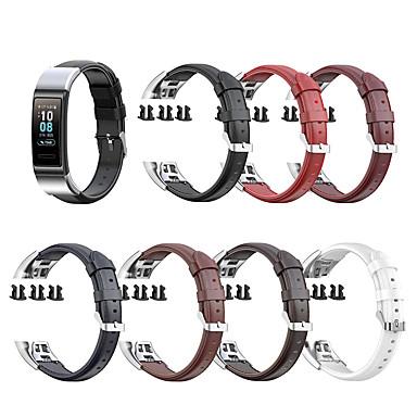 Недорогие Аксессуары для смарт-часов-Ремешок для часов для Huawei Band 3 Pro / Huawei band 4 pro Huawei Бизнес группа Натуральная кожа Повязка на запястье