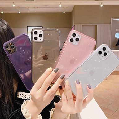 Недорогие Кейсы для iPhone-чехол для карты яблока сцены iphone 11 11 про 11 про макс х х с х р хс макс 8 чистый цвет блестящий полупрозрачный материал тпу все включено чехол для мобильного телефона
