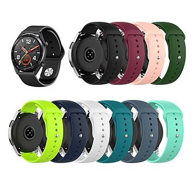 Недорогие Аксессуары для смарт-часов-22-миллиметровый силиконовый ремешок для часов для часов Huawei GT / часы GT Active / Watch2 Pro / 2 Classic / Honory Magic / часы GT2 46 мм браслет ремешок SmartWatch ремешок