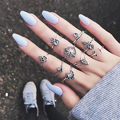 cheap Rings-Women's Ring 1 set Silver Alloy Elegant Holiday European Festival Jewelry