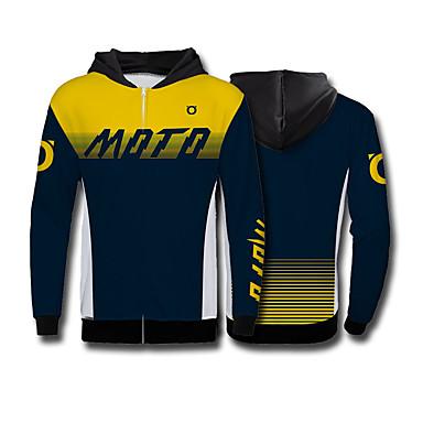 Недорогие Мотоциклетные куртки-голова лисы желто-синий внедорожный мотоцикл флисовый свитер мотоцикл джерси езда на велосипеде одежда скоростной спуск одежда спорт на открытом воздухе досуг куртка мото