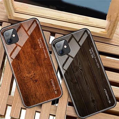 Недорогие Кейсы для iPhone-роскошный деревянный телефонный чехол для яблока iphone 11 pro max xr xs max x мягкий край тпу тонкий закаленный стеклянный чехол для iphone 8 plus 7 plus 6 plus coque shell