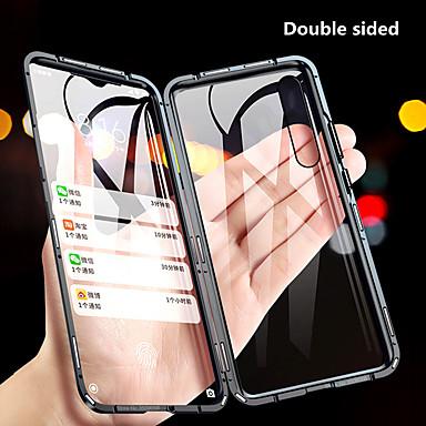 Недорогие Чехлы и кейсы для Xiaomi-Кейс для Назначение Xiaomi Redmi Note 8 / Redmi Note 8 Pro / Redmi K30 Защита от удара / Зеркальная поверхность Чехол Однотонный Закаленное стекло / Металл