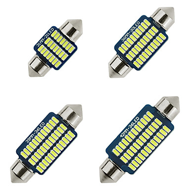 cheap Car Lights-31mm 36mm 39mm 41mm C5W LED Bulb CANBUS 21 30 36 SMD 3014 Car Interior reading dome lamps Parking Light Clearance Bulbs Auto plate Lamp White Warm white Ice blue 2pcs