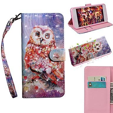 Недорогие Кейсы для iPhone-Кейс для Назначение Apple iPhone 11 / iPhone 11 Pro / iPhone 11 Pro Max Кошелек / Бумажник для карт / со стендом Чехол Животное Кожа PU