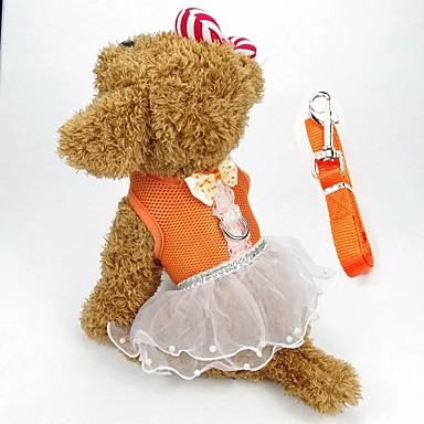 ieftine Imbracaminte & Accesorii Căței-Câine Hamuri Rochii Îmbrăcăminte Câini Rosu Roz Portocaliu Costume Material Textil Nod Papion Nuntă Casul / Zilnic XS S M L