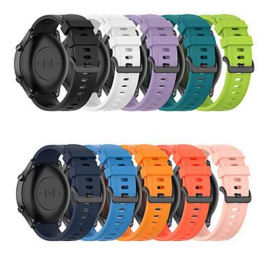 Недорогие Аксессуары для мобильных телефонов-Ремешок для часов для Huawei Watch GT 2e Huawei Спортивный ремешок / Современная застежка силиконовый Повязка на запястье