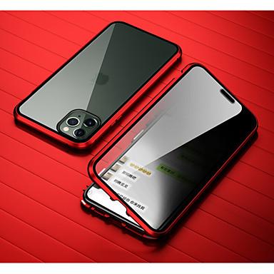 Недорогие Кейсы для iPhone-Кейс для Назначение Apple iPhone 11 / iPhone 11 Pro / iPhone 11 Pro Max Защита от удара / Зеркальная поверхность Чехол Плитка Закаленное стекло / Металл