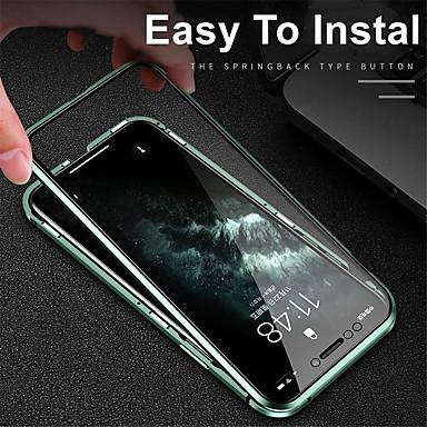 Недорогие Кейсы для iPhone-магнитный чехол для iphone11 iphone11pro iphone 11pro max адсорбция закаленное стекло двухсторонний 360 защитный чехол для apple iphone