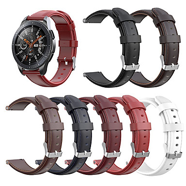 Недорогие Часы для Samsung-для samsung galaxy watch 46mm / gear s3 / gear2 r380 / gear2 neo r381 / live r382 ремешок из натуральной кожи ремешок на запястье