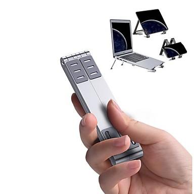 Недорогие Подставки и стенды для MacBook-Устойчивый стенд для ноутбука / Складной Macbook / Другое для ноутбука Всё в одном / Творчество / Новый дизайн Алюминий / Металл Macbook / Другое для ноутбука