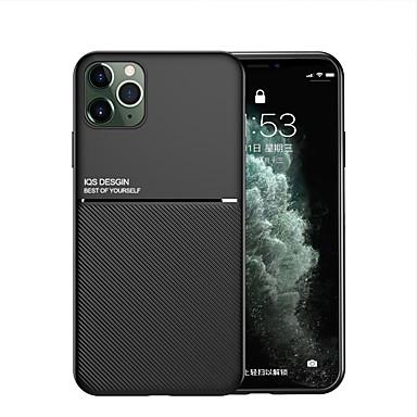 Недорогие Кейсы для iPhone-iphone11pro макс зернистая кожа со встроенной невидимой магнитной функцией автомобиля xs max полный силиконовый защитный чехол от падения 6/7 / 8plus