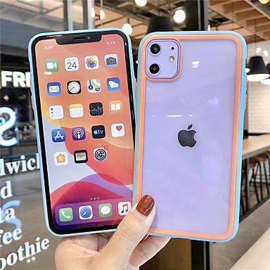 Недорогие Кейсы для iPhone-Кейс для Назначение Apple iPhone 11 / iPhone 11 Pro / iPhone 11 Pro Max Защита от удара / Прозрачный Кейс на заднюю панель Прозрачный Силикон / ПК
