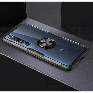 Недорогие Чехлы и кейсы для Xiaomi-Кейс для Назначение Xiaomi Xiaomi CC9 Pro Кольца-держатели / Зеркальная поверхность Кейс на заднюю панель Однотонный ТПУ / ПК