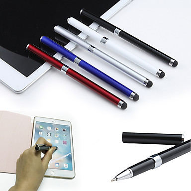 cheap Cell Phone Charms-2-in-1 Capacitive Touch Screen Stylus Pen and Ball Point Pen for iPad Air 2/1 Mini 1/2/3/4 iPhone 8 7 Smart Phone Tablet PC Pen