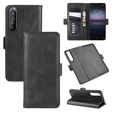 Недорогие Чехлы и кейсы для Sony-для Sony Xperia 1 II кошелек стенд кожаный чехол для мобильного телефона с кошельком&усилитель; держатель&усилитель; слоты для карт