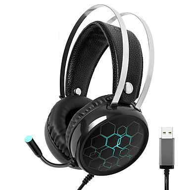 Недорогие Наушники для геймеров-x1 игровая гарнитура с объемным звуком USB проводной геймер наушники