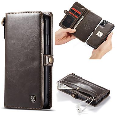 Недорогие Кейсы для iPhone-Caseme Luxury Business магнитный флип кожаный чехол для iphone se2020 / 11 pro max / 11 pro / 11 / xs max / xr / xs / x / 8 plus / 7 plus / 6 plus / 8/7/6 со слотом для карт памяти подставка съемная