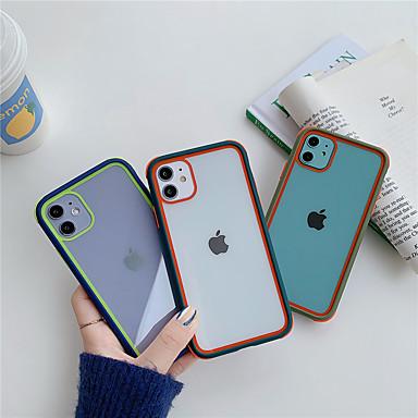 Недорогие Кейсы для iPhone-цветной бампер прозрачный силиконовый противоударный чехол для телефона для iphone se 2020/11 / 11pro / 11pro max / x / xs / xr / xs max / 8plus / 8 / 7plus / 7 прозрачная защитная задняя крышка