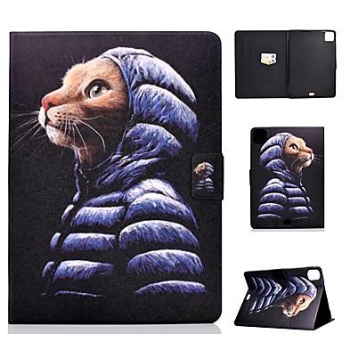 Недорогие Кейсы для iPhone-чехол для яблока ipad air / ipad mini 3/2/1/4/5 держатель карты / флип / выкройка чехлы для всего тела кошка из искусственной кожи для ipad air 10.5 2019 / ipad 10.2 / pro 11 2020 / ipad 2017 / ipad