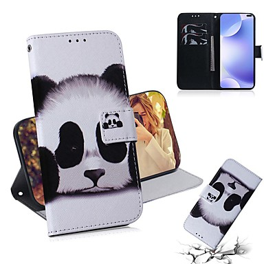Недорогие Чехлы и кейсы для Xiaomi-чехол для xiaomi 9 lite / mi 9t / mi 9t pro кошелек / визитница / флип чехлы для тела panda pu кожа для xiaomi cc9 / cc9e / note 10 pro / redmi k30 / k20 pro / note 8t / note 8/8 / 8a / 7 / 7а