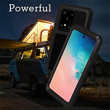 Недорогие Чехол Samsung-чехол для samsung galaxy s20 plus s20 ultra s20 противоударный пылезащитный чехол для всего тела сплошной цветной силикагель металл a51