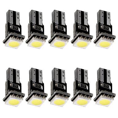 Недорогие Освещение салона авто-T5 canbus светодиодный индикатор приборной панели автомобиля 12 В постоянного тока светодиодная лампа белого цвета 10 шт.