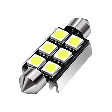 Недорогие Освещение салона авто-36 мм 39 мм 5050 c5w 6 светодиодный купол гирлянды 12 В постоянного тока светодиодный интерьер салона для чтения фар багажника белый теплый белый 2шт
