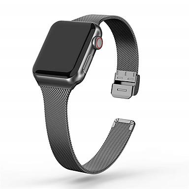 Недорогие Аксессуары для смарт-часов-Ремешок для часов для Серия Apple Watch 5/4/3/2/1 Apple Миланский ремешок Нержавеющая сталь Повязка на запястье