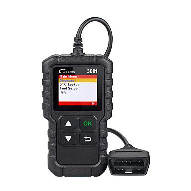 Недорогие OBD-Запуск x431 cr3001 Поддержка сканера obd2 полная поддержка OBD II / EOBD Creader 3001 Диагностика автоматического сканера pk cr319 elm327 v1.5 v2.1