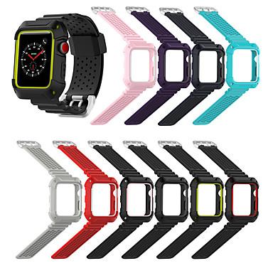 Недорогие Аксессуары для смарт-часов-Ремешок для часов для Серия Apple Watch 5/4/3/2/1 Apple Спортивный ремешок силиконовый Повязка на запястье
