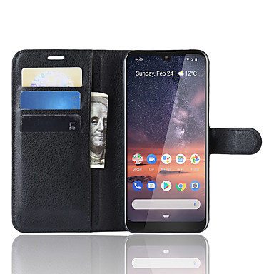 Недорогие Чехлы и кейсы для Nokia-Naxtop TPU и PU кожаный бумажник флип-подставка чехол для телефона защитный с гнездом для карты наличными для Nokia 3.2 / Nokia 4.2