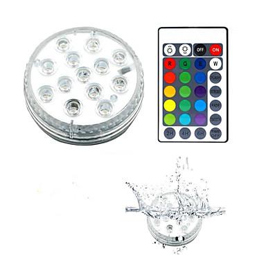 זול תאורת חוץ-13 led אורות צוללת שלט רחוק rgb החלפת אורות עמיד למים מתחת למים לבריכת מזרקת בריכת אקווריום אגרטל ג 'קוזי מסיבת אמבטיה 1 חבילה