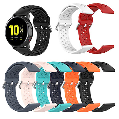 Недорогие Часы для Samsung-дышащий силиконовый спортивный ремешок для часов Samsung Galaxy 42мм / активный / активный2 / экипировка sport / s2 classic