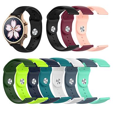 Недорогие Аксессуары для смарт-часов-18 мм силиконовый ремешок для часов для huawei fit / honor s1 / watch 1 / huawei b5 браслет с ремешком для часов smartwatch