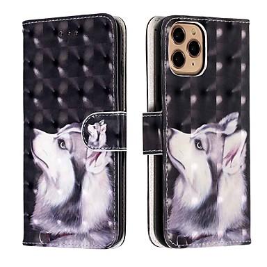 Недорогие Кейсы для iPhone-чехол для apple iphone 11 / iphone 11 pro / iphone 11 pro max кошелек / визитница / с подставкой для всего тела чехол хаски из искусственной кожи / тпу для iphone xs max / xr / xs / x / se (2020) / 8