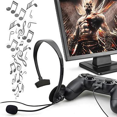 Недорогие Наушники для геймеров-Профессиональная мини-проводная стереогарнитура с одним ухом и микрофоном для видеоигры PS4 для PlayStation