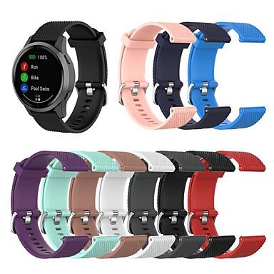 Недорогие Аксессуары для смарт-часов-Ремешок для часов для Huawei Watch GT / Samsung Galaxy Watch 46 / Huawei Watch GT 2 Samsung Galaxy / Huawei / Garmin Спортивный ремешок силиконовый Повязка на запястье
