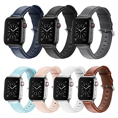 voordelige Apple Watch-bandjes-Horlogeband voor Apple Watch Series 5/4/3/2/1 Apple Sportband Gewatteerd PU-leer Polsband