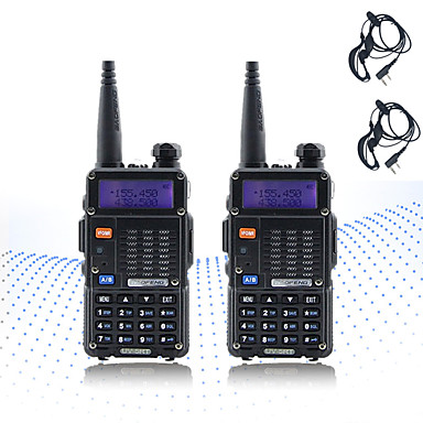 cheap Walkie Talkies-2PCS BAOFENG 5RT 8W 2800mAh Handheld Dual Band 5KM-10KM Walkie Talkie Two Way Radio / 136-174MHz / 400-520MHz Intercom Small Radio Preofessional FM Transceiver