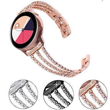 Недорогие Аксессуары для смарт-часов-Ремешок для часов для Samsung Galaxy Watch 46 / Huawei Watch GT 2 / Samsung Galaxy Watch Active 2 Samsung Galaxy Дизайн украшения Нержавеющая сталь Повязка на запястье
