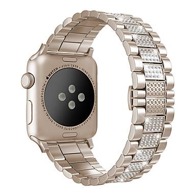 Недорогие Аксессуары для смарт-часов-Ремешок для часов для Серия Apple Watch 5/4/3/2/1 Apple Классическая застежка / Бизнес группа Нержавеющая сталь Повязка на запястье